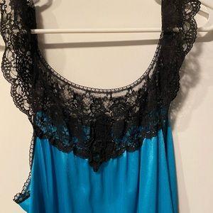 Vintage blue and black nightie